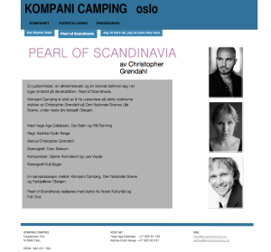 Commissioned  Gull Øzger will be joining Kompani Camping for there new play Written by C. Grøndahl.  The play will premiere the spring 2014 during Festspillene i Bergen.  For more info go to http://www.kompanicamping.no